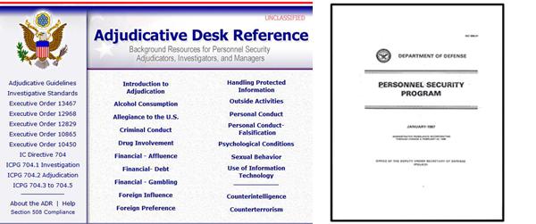 DOD Adjudicative Elements - Security Clearance